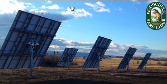 solar panels at Woodchuck Orchard