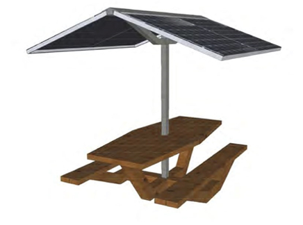 Energy Manage solar picnic table